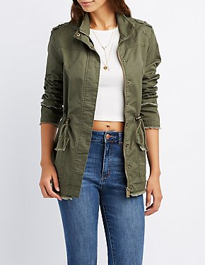 Distressed Anorak Jacket