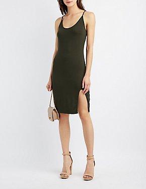 Bodycon Slit Midi Dress