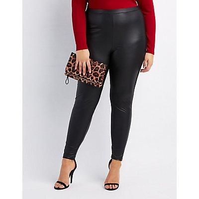 Plus Size Leggings: Cotton, Fleece & Liquid | Charlotte Russe