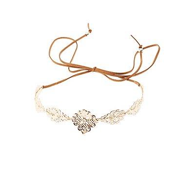 Embellished Filigree Crown Headband