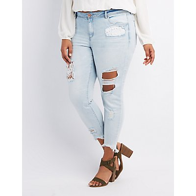 Plus Size Jeans & Denim for Women | Charlotte Russe