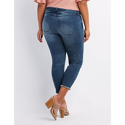 Plus Size Refuge Patchwork Boyfriend Destroyed Jeans