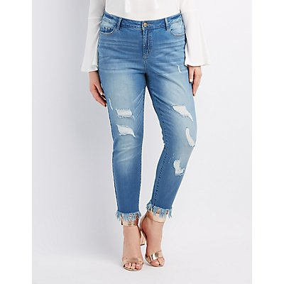 Plus Size Distressed Denim & Ripped Jeans | Charlotte Russe