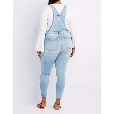 Plus Size Refuge Distressed Denim Overalls