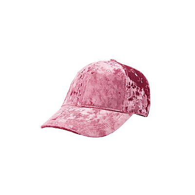 Crushed Velvet Baseball Hat
