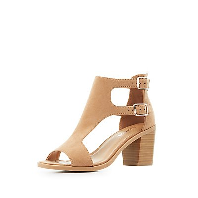 Cut-Out T-Strap Sandals