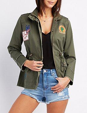Frayed Patch Anorak Jacket