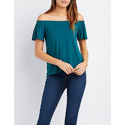 Fluttery Off-The-Shoulder Top