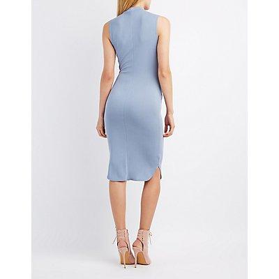 Choker Neck Midi Dress