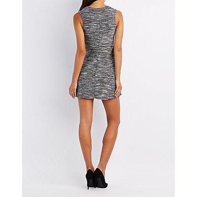 Textured Knit Swing Dress