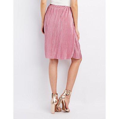 Micro Pleated Midi Skirt
