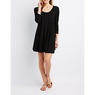 Dolman Trapeze Shift Dress