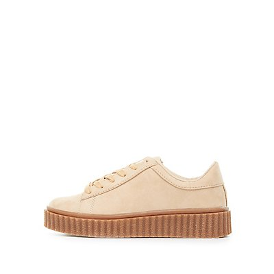 Faux Suede Creeper Sneakers