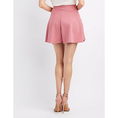 Tied Wrap Skater Skirt