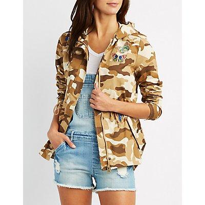 Patch Camo Anorak Jacket