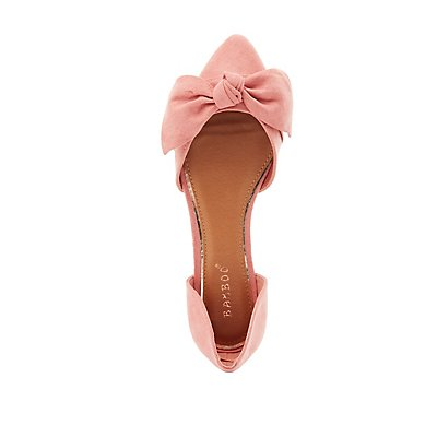 Bamboo Knotted Pointed Toe Flats