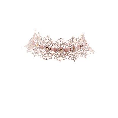 Embellished Lace Choker Necklace