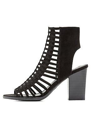 Caged Peep Toe Sandals