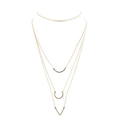 Chainlink Choker & Layering Necklaces - 4 Pack