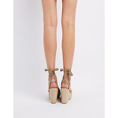 ankle tie espadrille wedge sandals russe
