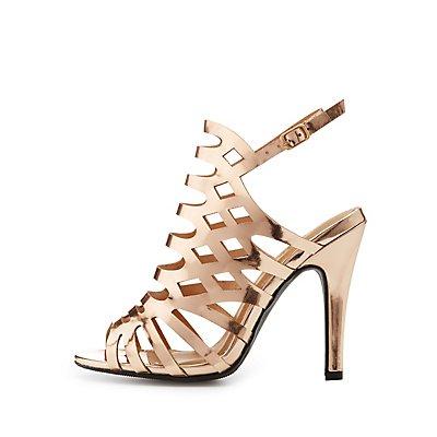 Wide Width Laser Cut Dress Sandals