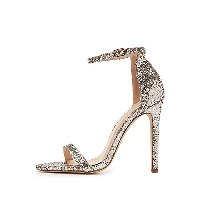 Glitter Two-Piece Dress Sandals