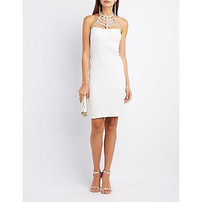 Little White Dress: Chiffon Cut-Out &amp Lace  Charlotte Russe