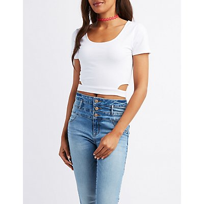 Side Cut-Out Crop Top