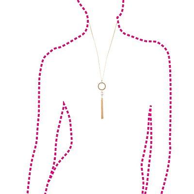 Embellished Tassel Drop Necklace