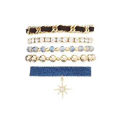Starburst Layering Bracelets - 5 Pack