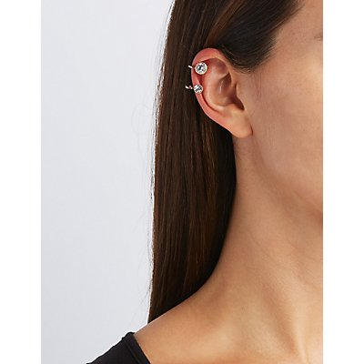Chainlink Ear Cuffs & Stud Earrings Set