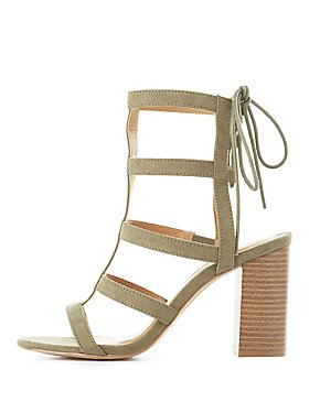 Stacked Heel Gladiator Sandals