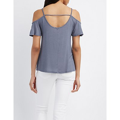 Strappy Cold Shoulder Top