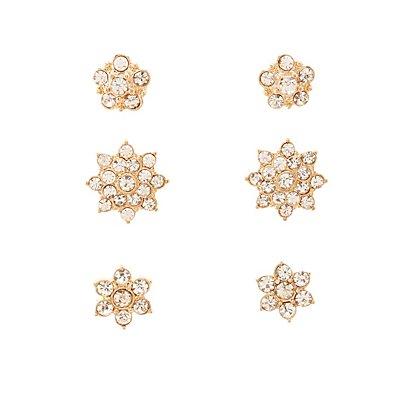 Embellished Ear Jacket & Stud Earrings - 6 Pack