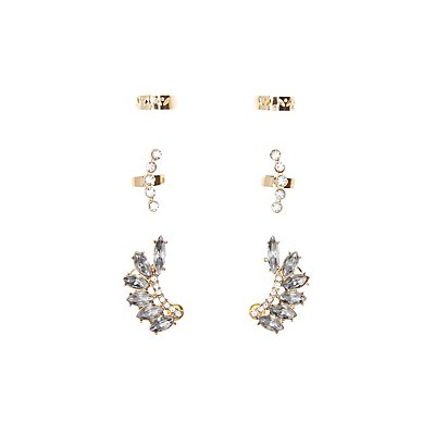 Embellished Ear Crawler & Ear Cuffs Set
