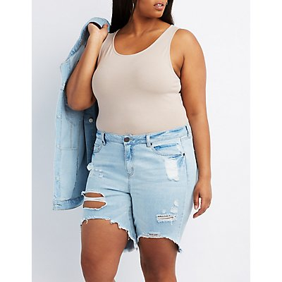 Plus Size Scoop Neck Tank Bodysuit