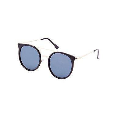 Round Brow Bar Sunglasses