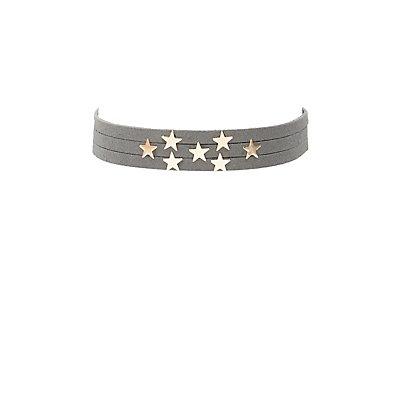 Star Embellished Choker Necklace