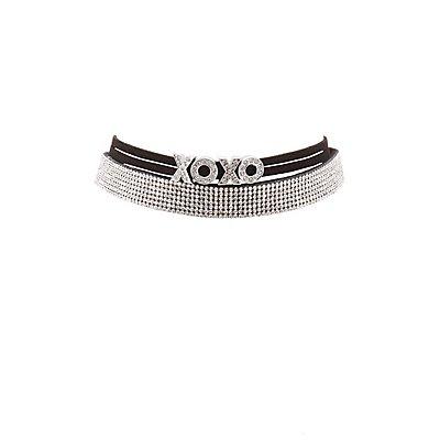 XOXO Embellished Choker Necklaces - 2 Pack