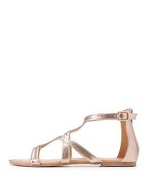Cut-Out Flat Sandals