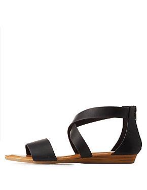 Wide Width Crisscross Sandals