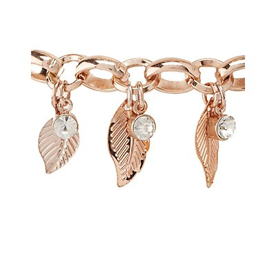 Embellished Leaf Layering Bracelets - 4 Pack