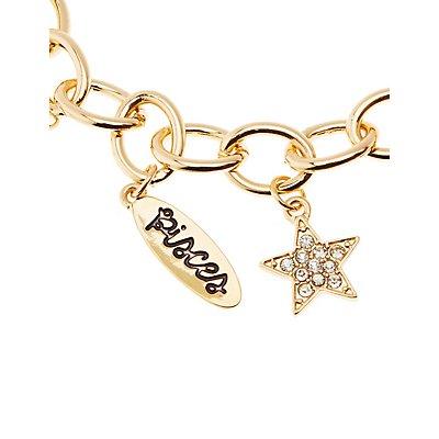 Pisces Charm Bracelet