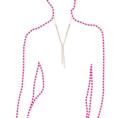 Rhinestone Lariat Necklace