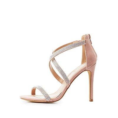 Embellished Crisscross Dress Sandals