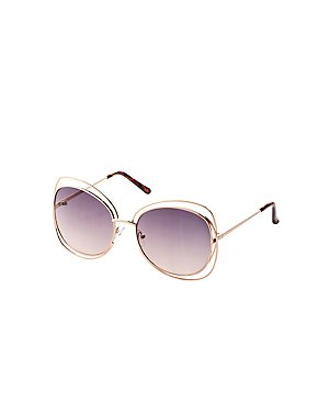 Metal Oversize Sunglasses
