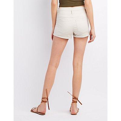 Refuge Hi-Waist Shortie Denim Shorts