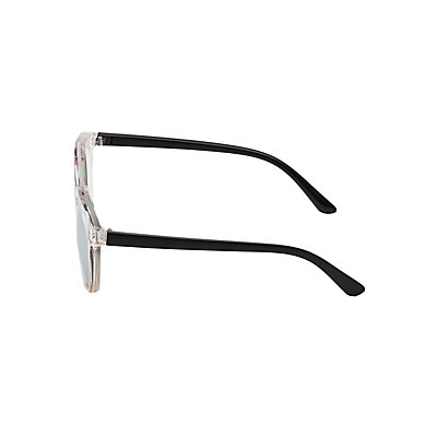 Metal Brow Bar Colorblock Sunglasses