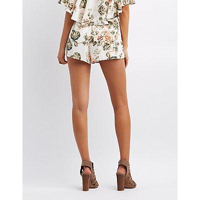 Floral Chiffon Shorts
