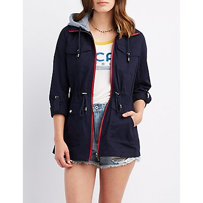 Convertible Hood Anorak Jacket